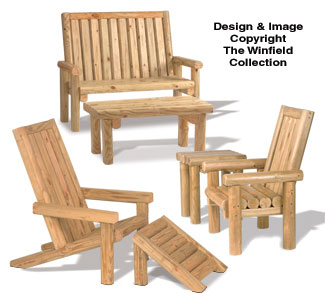 All Yard Garden Projects Landscape Timber Furniture Plan Set