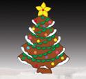 Giant Gingerbread Tree Wood Pattern