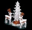 Elegant Deer & Tree Woodcraft Pattern