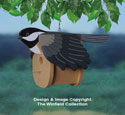 Chickadee Birdhouse Wood Project Pattern