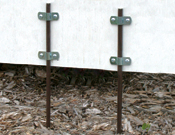Yard Stakes & Clamps - Sold Separately - 3/16