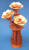 Miniature Roses & Vase Scroll Saw Pattern