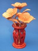 Miniature Petunias & Vase Scroll Saw Pattern