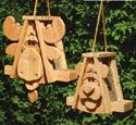 Moose & Bear Birdfeeder Wood Plan