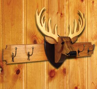 wall decor deer rack wood project plan