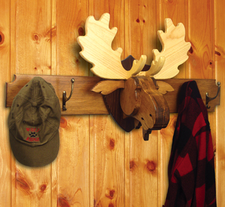 Wall Decor Moose Rack Wood Project Plan