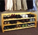 Stackable Shoe Rack Wood Pattern