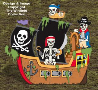 Haunted Pirate Ship Wood Project Pattern