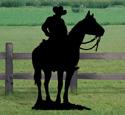 Cowboy on Horse Shadow Woodcraft Pattern