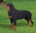 3D Life-Size Rottweiler Woodcraft Pattern