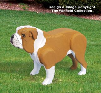 3D Life-Size Bulldog Woodcraft Pattern