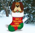 Dog-Gone Christmas Stocking Wood Pattern