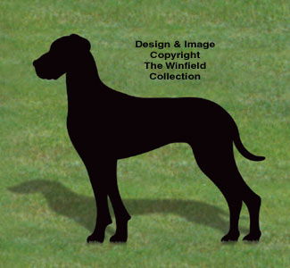 Great Dane Shadow Woodcrafting Pattern