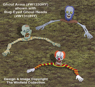 Bug-Eyed Ghoul Arms Woodcraft Pattern