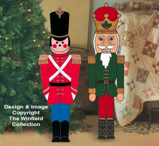 small toy soldier and nutcracker wood pattern - Large Toy Soldier Christmas Decoration