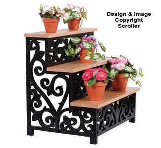 Scrolled Stairstep Plant Display Pattern