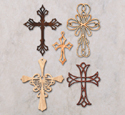Ornamental Wall Crosses Pattern Set