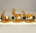 Reindeer Candles Pattern Woodcraft Project Plan