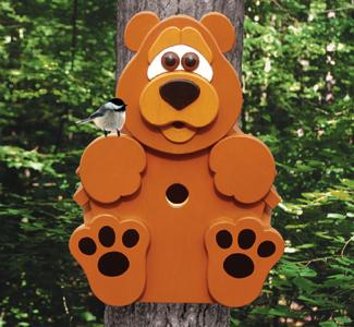 Bear Cub Birdhouse Wood Project Plan