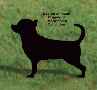 Dogs Chihuahua Shadow Woodcrafting Pattern