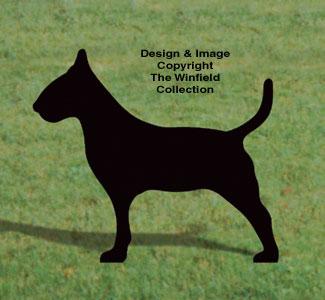 Bull Terrier Shadow Woodcrafting Pattern