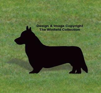 Welsh Corgi Shadow Woodcraft Pattern