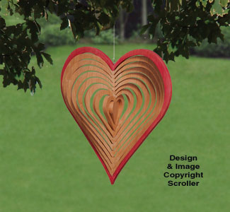 Wind Whirlers - Heart Pattern