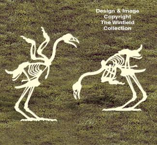 Skeleton Chickens Woodcrafting Pattern
