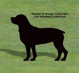 Rottweiler Shadow Wood Pattern