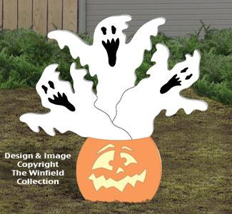 Haunted Pumpkin Woodcraft Pattern