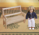 Doll Bench Wood Pattern