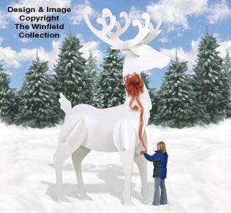 Reindeer Sleighs Ginormas White Reindeer 2 Pattern