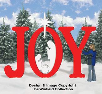Christmas Cutout Patterns.All Christmas Huge Joy Nativity Pattern