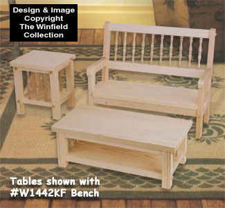 Doll Coffee and End Table Wood Pattern