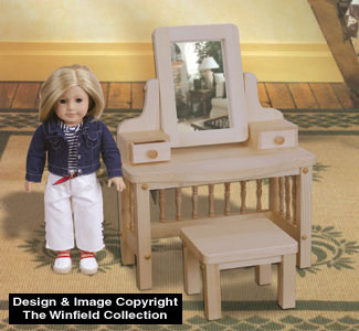 Doll Vanity and Stool Wood Pattern