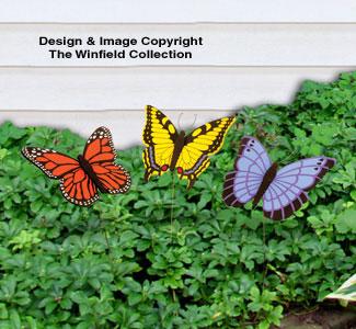 12 Butterfly Poke Wood Patterns