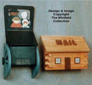 Amish Buggy And Log Cabin Mailbox Patterns