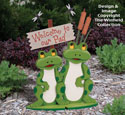Welcome Frogs Woodcraft Pattern