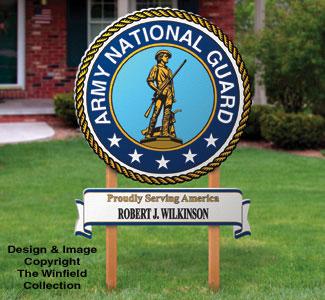 Small National Guard Sign Woodcraft Pattern