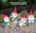 Busy Garden Gnomes Woodcraft Pattern