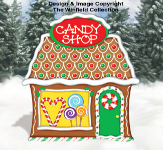 Gingerbread Gingerbread Candy Shop Wood Pattern