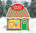 Gingerbread Candy Shop Wood Pattern