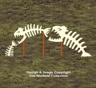 Scary Skeleton Fish Pattern