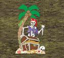 Haunted Treasure Island Wood Pattern
