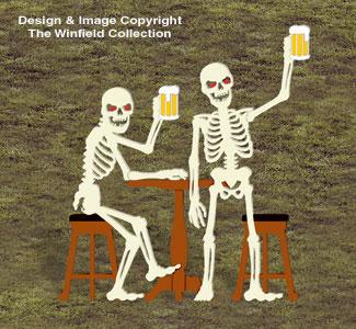 Skeleton Bar Buddies Wood Pattern