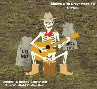 Skeleton Cowboy Singer Pattern