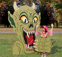 Rising Demon Photo Op Wood Plans