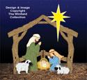 Colorful Small Silent Night Nativity Woodcraft Pattern
