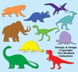 Bedroom Wall Dinosaur Pattern Set