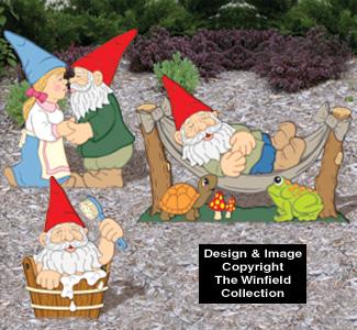 Small Garden Gnomes #3 Pattern Set